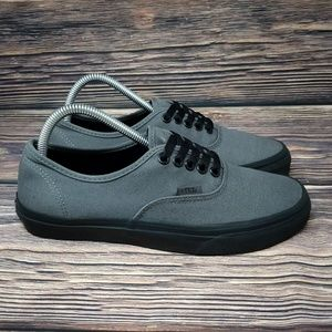 Vans Gray & Black Classic Lace Up Skate Sneakers
